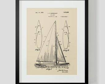 Sailboat Boat Sailing Ocean Herreshoff Patent Print