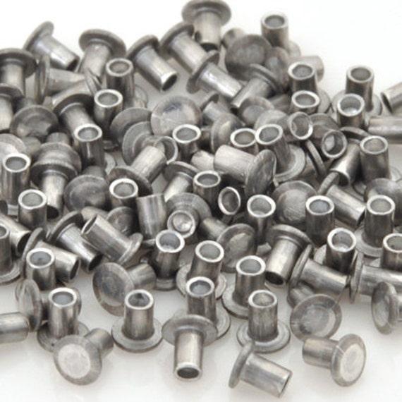 Hollow Rivet Setting Tool : Findings hollow rivet inch aluminum quantity