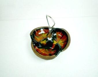 Vintage Treasure Craft California Pottery 1960s Tidbit Dish Retro Colors