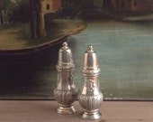 Vintage Silverplate Salt and Pepper Shakers
