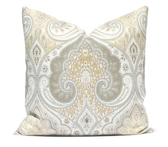 Throw Pillow Cover Pillow Cover Designer Linen Fabric Latika