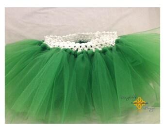 Green little girl tutu