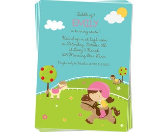 50% Off Sale! - PRINTABLE Pony Party Invitation