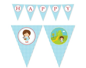 50% Off Sale! - PRINTABLE Dorothy/Wizard of Oz Party Banners