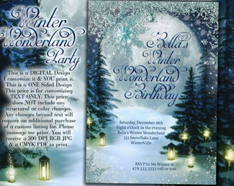 Invitation Wording For Winter Party. Winter Wonderland Party  Invitation Snow Invitations Snowy Wood Gold Silver Snowflake
