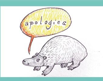 I'm Sorry / Apology Card