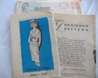 Mid Century Prominent Designer Pattern 9082, Size 12, Bust 32, Uncut