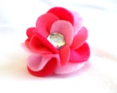 Small Pink Dog Collar Flower Removable Accessory