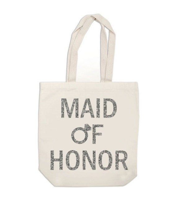 Glitter Maid of Honor Bag, Diamond Ring bag, Maid of Honor tote bag, Wedding bag, Bridesmaid bag, bridesmaid gift , wedding canvas bag