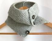 Cowl in Grey Aran Wool