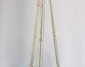 Macrame Plant Hanger 43in SIMPLE 3-ARM 6mm Pearl (Choose Color)