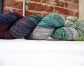 The Laughing Sky Pirates of Doom - Hand Dyed BFL Cashmere Silk Sock Fingering Yarn