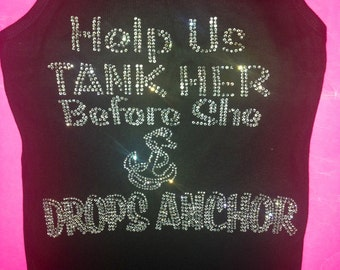 4 Bridesmaid Anchor Tank Tops / Bachelorette Party  /  Beach /  Destination Weddings / Bride Anchor Tank Top / Bride Lace  / Girls Weekend