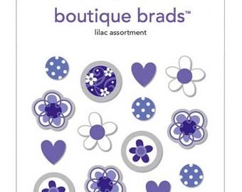 Lilac Assortment Boutique Brads by Doodlebug