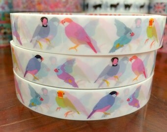 Deco Tape Stickers - Pastel birds DT529 10meters