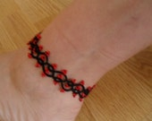Tatted Lace Anklet  - Tatting Barefoot Sandals