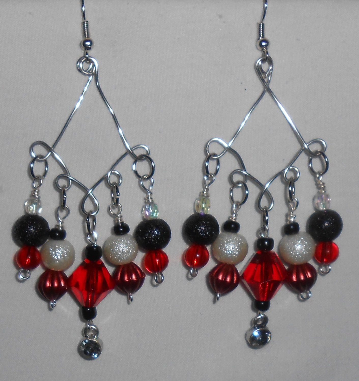 chandelier dangle earrings by leidesigns on etsy