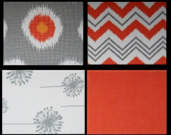 Fabric Canvas Tableau -Fabric covered canvases Mix and Match Patterns