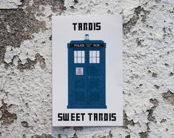 Tardis Sweet Tardis Doctor Who Sticker