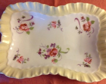 Vintage Roal Adderley Fine Bone China Floral Candy/Trinket Tray