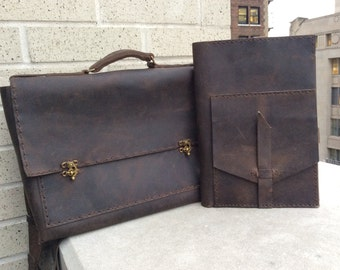Brown leather briefcase, Leather computer bag, Mens briefcase bag, Computer bags for men, Handmade leather briefcase, Custom made bags