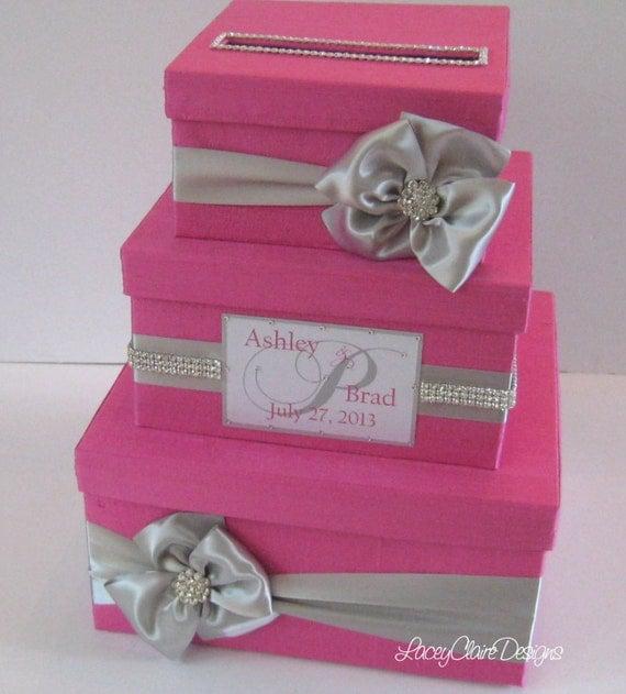 Unique Wedding Card Holders: Wedding Card Box Bling Money Holder Custom Card Box Custom