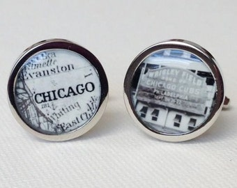 Vintage wrigley field Chicago cufflinks