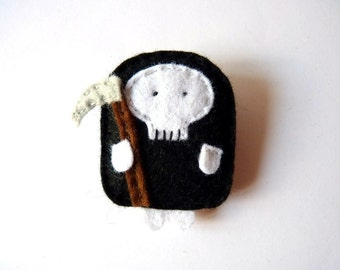 Little Death felt brooch or keychain, halloween character, gift for boys