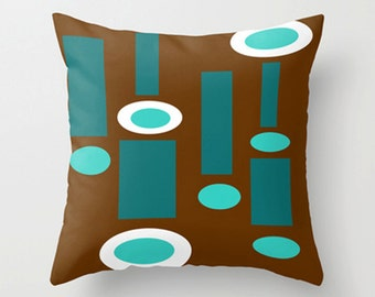 Brown Geometric Throw Pillow Cover