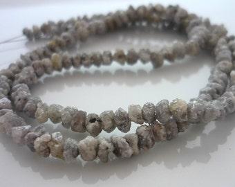 Fantastic grey druzy diamond beads 2.8-3.8mm set of 10