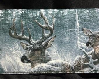 Deer Checkbook Cover