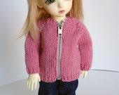 Pink Handknit Sweater Cardigan Yosd BJD