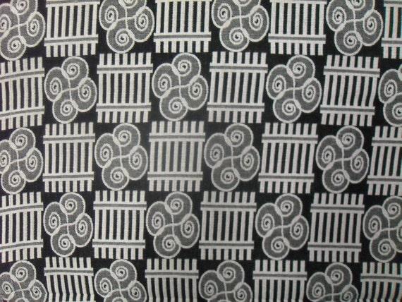 Black And White Kente Cloth Per Yard