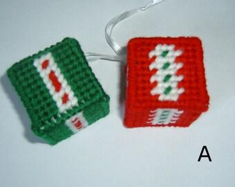 Handmade Plastic Canvas Needlepoint Boxes Ornaments