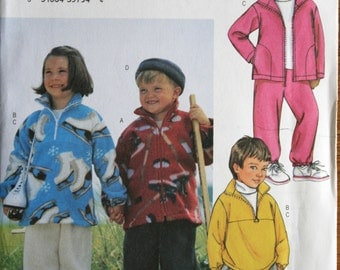 Butterick 3647 Childrens Jacket Long Pants Hat Sewing Pattern