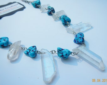 Crystal and Turquoise Necklace