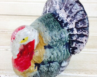 Vintage Chalk-ware Turkey Candy Container made in Japan