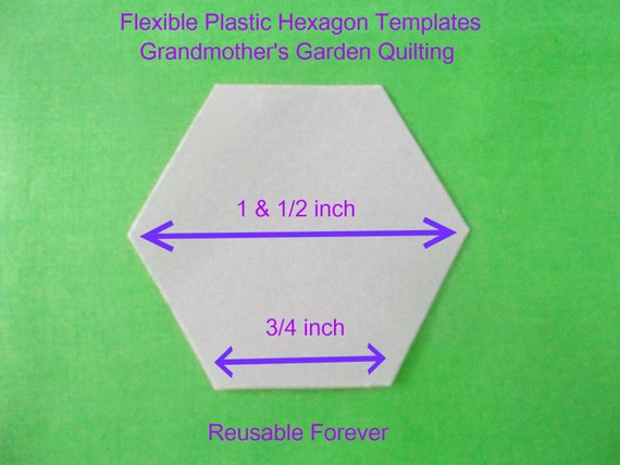 175 flexible plastic quilting hexagon templates reusable for Hexagon quilt template plastic