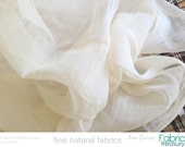 "Wholesale Organic cotton gauze for baby swaddling, summer scarf, doll fashion, curtain, bug net, summer dress. Unbleached. 42"" W. 10 yards."