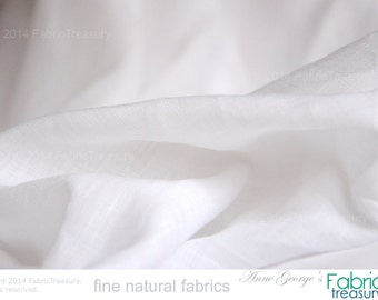 "Wholesale Fabric. White Linen Fabric. Organic, handwoven fabric. Fairtrade. Super soft, dress weight for Fall fashions. Belgian Linen. 58"" W"