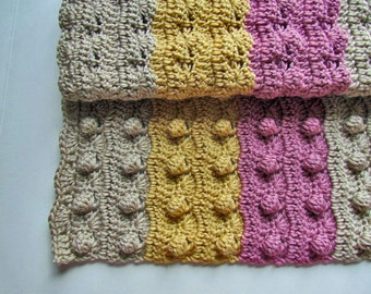 PDF Crochet Pattern - Bumpy Wiggle Baby Blanket - Instant Download - permission to sell finished items