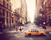"NYC Photography - Taxi Photo - Travel Photography -  Yellow Street Scene - Fine Art Photo - ""NYC Taxi"""
