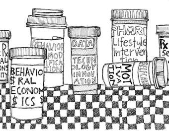 Alternative Medicine - Pen & Ink Illustration