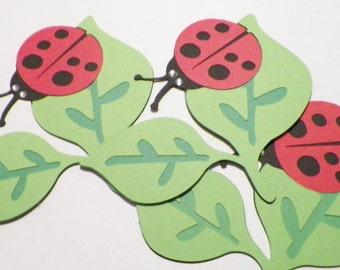 Lady bug on Leaf Die Cut