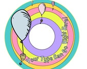 CD/DVD label - Rainbow and balloons - Customized Printable Digital File