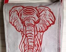 Hand made Elephant Messenger Bag