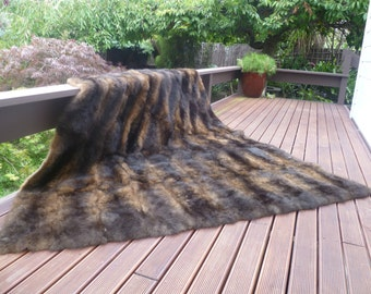 New Zealand Possum Natural Brown Fur King Bedspread