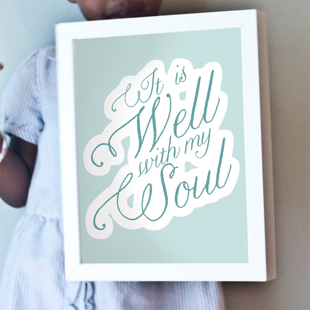 Printable 8x10 It Is Well print