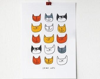 A4 Cats Print
