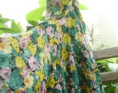 Printed Cotton Long Tiered Skirt - SSC0314-2
